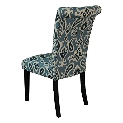 Monsoon Pacific Voyage Upholstered Dining Chairs, Blue, Set of 2