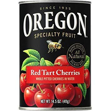 - Oregon Fruit Produ cts Pitted Red Tart Cherries in Water 14.5 oz, one can