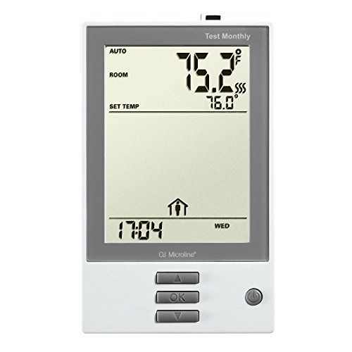 (OJ Electronics UDG-4999 nHance Programmable Thermostat, with Floor Sensor, Class A GFCI , (White))