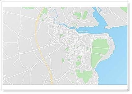 Dundalk Map Of Ireland.Amazon Com Dundalk Ireland Map Illustration Classic Fridge Magnet