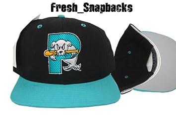 Portland Seadogs Retro Snapback Cap Hat Aqua Black Vnintage Minor ... c6b532590f4