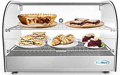 "KoolMore 22"" Commercial 2 Shelf Countertop Food Warmer Display Case - 1.5. cu ft."