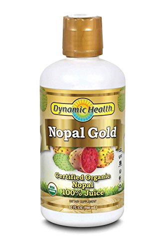 Dynamic Health Nopal Gold – 100% Pure Organic Certified Nopal Juice 32oz, 32 Fluid Ounce