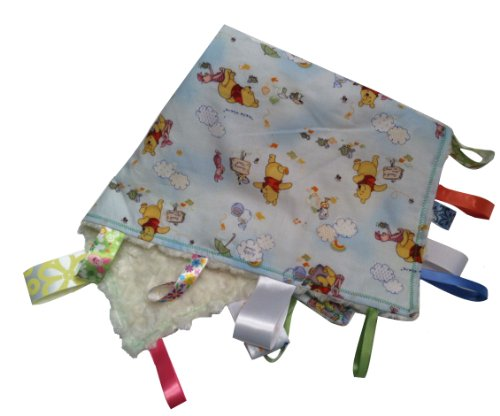 (WINNIE THE POOH~ Reversible Blanket with Ribbon Tabs)