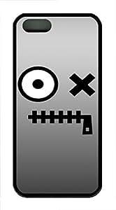 iPhone 5 5S Case Mouth Zip TPU Custom iPhone 5 5S Case Cover Black