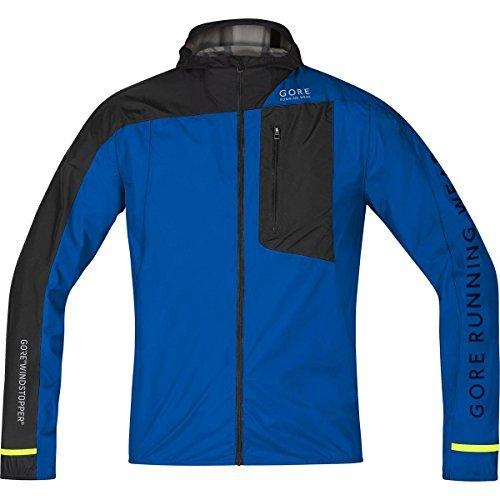 Gore Running Wear jwultrメンズFusionウインドストッパーアクティブシェルジャケット、Brilliantブルー/ブラック、M by Gore Running Wear   B01LE3B7GW