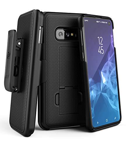 - Encased Galaxy S10e Belt Clip Case (2019 DuraClip) Slim Grip Cover w/Holder for Samsung Galaxy S10 E (Black)