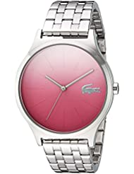 Lacoste Womens Nikita Quartz Stainless Steel Casual Watch, Color:Silver-Toned (Model: 2000991)