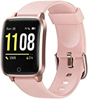 Letsfit Smart Watch, 1.3 Inch Fitness Trackers with Heart Rate Monitor, Activity Tracker, IP68 Waterproof Pedometer,...