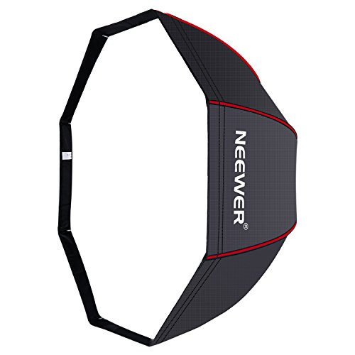 Neewer 47 inches/ 120 centimeters Octagonal Softbox Umbrella with Red Edges and Carrying Bag for Portrait or Product Photography, Suitable for Canon Nikon Sony Speedlite, Studio Flash (Black/Red) by Neewer