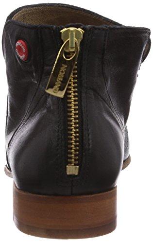 NOBRAND Ivy - botas de caño bajo de cuero mujer negro - Schwarz (black croco)