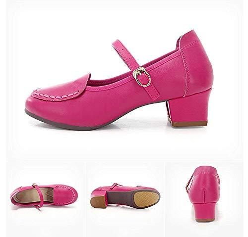 Con Tacones Mujer Social 25 3cm10inch Salón color Zapatos Rojo Para Baile Bajos Length Foot Y De Latino Suaves Rose Fuxitoggo Tamaño UwY8xXq0Y