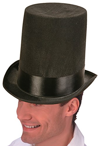 Forum Novelties Lincoln Stove Pipe Hat, Black - Lincoln Stove