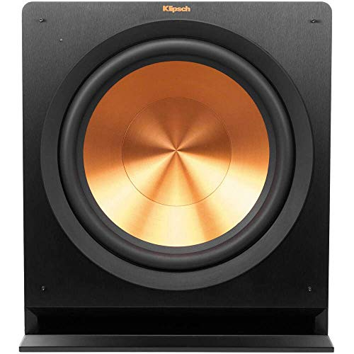 Klipsch R-115SW Powered Subwoofer, Black (Renewed)