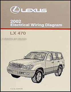 2002 Lexus LX 470 Wiring Diagram Manual Original ()
