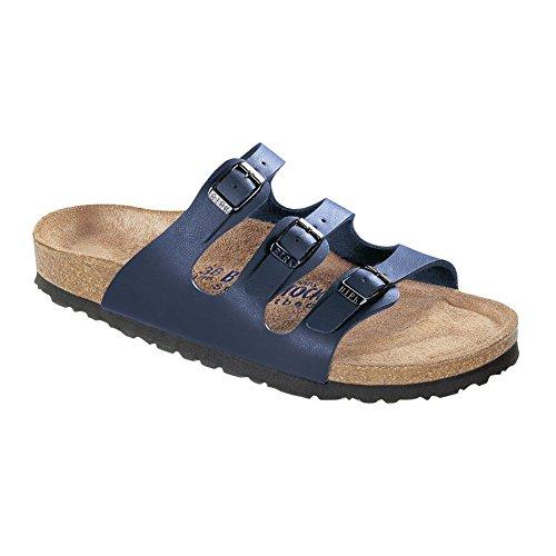 Birkenstock Women's Florida Soft Footbed Birko-Flor  Navy Sandals - 39 N EU / 8-8.5 2A (N) US ()