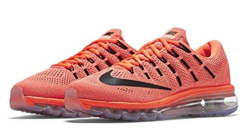 Nike Womens Wmns Air Max 2016, Iper Arancio / Nero-tramonto Bagliore, 12 M Us