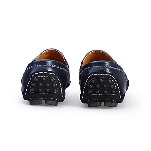 Blivener Zapatos Ocasionales De Conducción Hechos A Mano De Hombre Slip On Loafer Blue