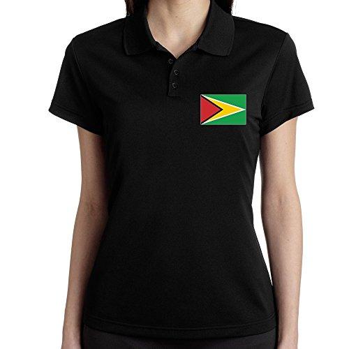 Teeburon Guyana Flag Polo Donna