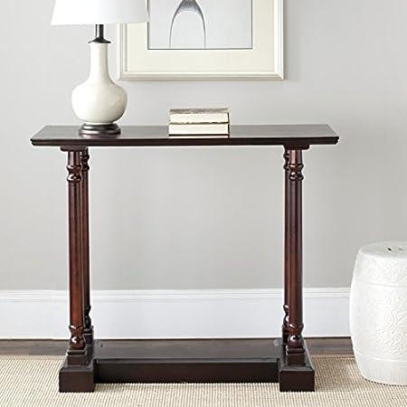 Amazon Com Safavieh American Homes Collection Regan Dark Cherry Console Table Home Kitchen