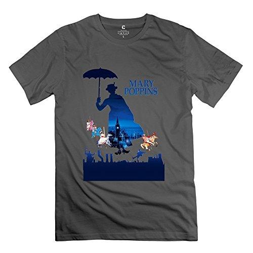 Mary Poppins2 Short Sleeve T Shirts For Men DeepHeather XL Stylish T - Gyllenhaal Cycling Jake