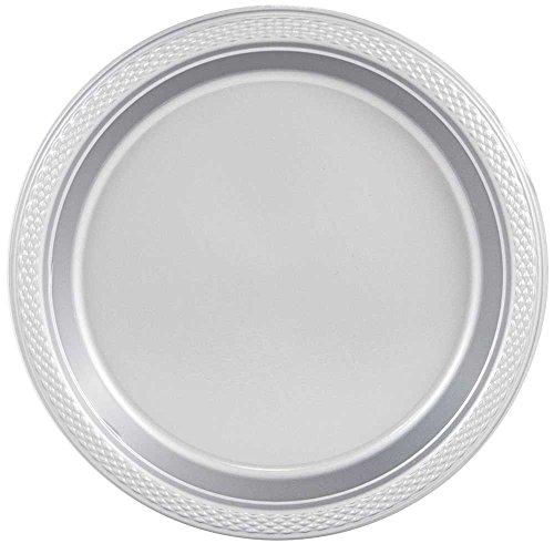 JAM Paper Round Plastic Party Plates - Medium - 9