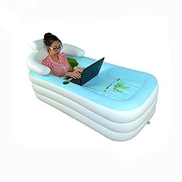 Amazon.com: Adulto inflable tina baño Cálido burbuja baño en ...