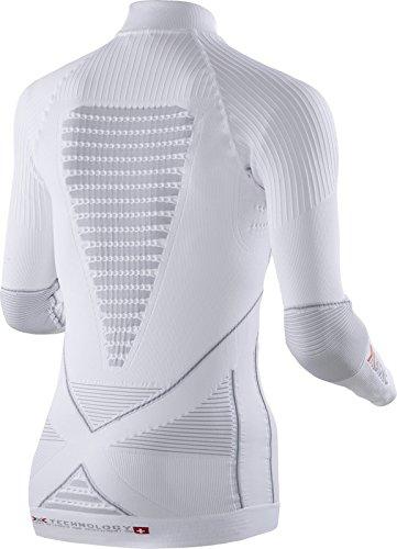 X Acc Lg Perla sl Intimo Xs Donna Turtle Uw evo Neck bionic Bianco grigio rFqar