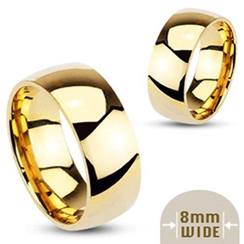 Cool, corps, style, unisexe, anneau de mariage classique anneau en acier inox...