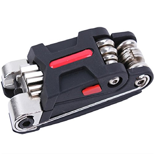 EASY BIG Bike Multifunction Tools 15-Function Bicycle Multitool Hex Keys, Spoke Wring Wrenches, Screwdrivers, Tire levers Chain Rivet Extractor