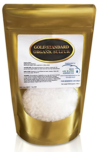 Gold Standard Organic Sulfur Crystals 1lb - 99.9% Pure MSM Crystals - Largest Granular Flakes Available! 3rd Party Tested **Same Day Priority Shipping**