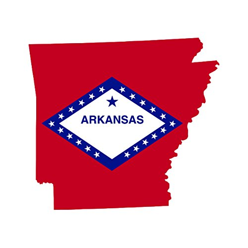 d Flag Sticker Self Adhesive Vinyl Decal AR (Arkansas Ar State Flag)