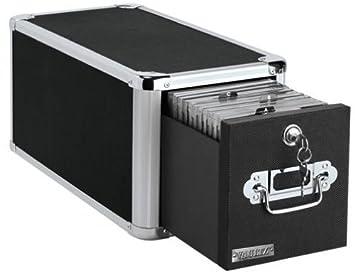 vaultz locking single drawer cd file cabinet 15 x 75 x 775 inches black