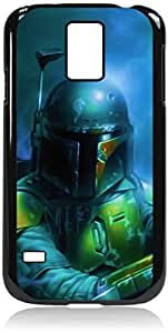 Boba Fett-Color-Hard Black Plastic Snap - On Case-Galaxy s5 i9600 - Great Quality!