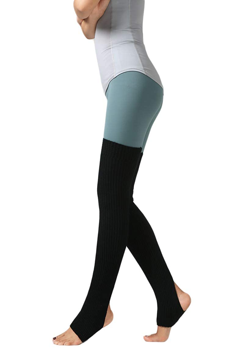 Santwo Unisex Adult Over Knee Thermal Leg Warmer Protector Socks For Dancing Yoga