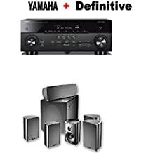 Yamaha AVENTAGE RX-A780 7.2-ch 4K Ultra HD AV Receiver with HDR + Definitive Technology ProCinema 600 5.1 Home Theater Speaker System Bundle