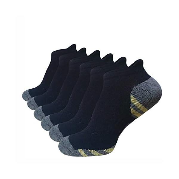 Men's Performance No Show Athletic Socks Running Sports Comfort Cushioned Tab Socks(6 Pairs)