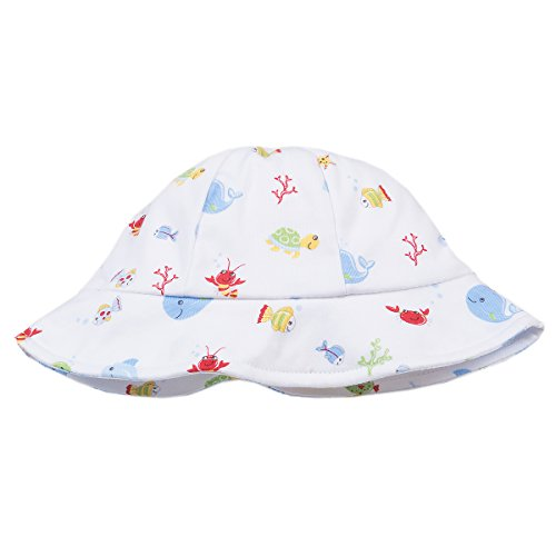 Kissy Kissy Baby Boys Ocean Treasures Print Sunhat - Blue-Large