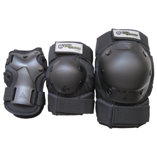 - K2 Skate Men's XT Premium Pad Set, Black, X-Large