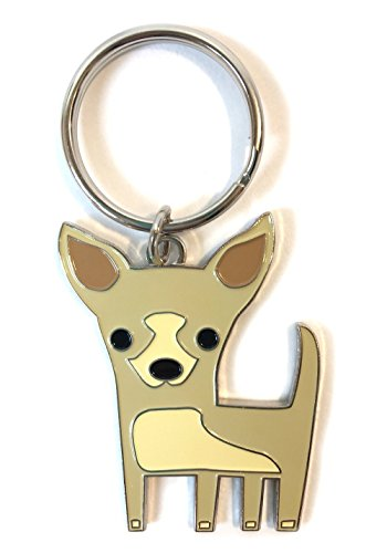 Chihuahua Key Chain House Car Original Design Silver Tone 1