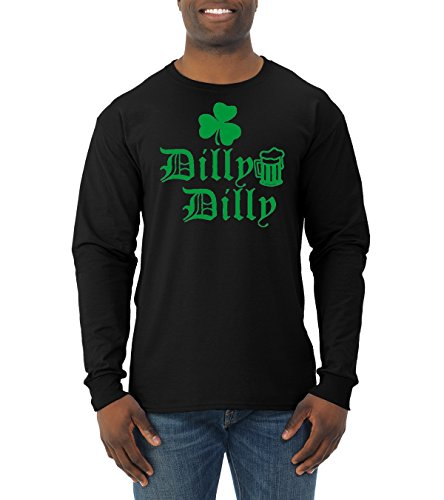 c3fac610 Wild Bobby Dilly Dilly Beer Shamrock Green | Mens ST. Patrick's Day Long  Sleeve Tee