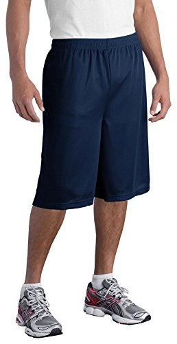 (Sport-Tek Mens Extra Long PosiCharge Classic Mesh Short, 3XL, True Navy )