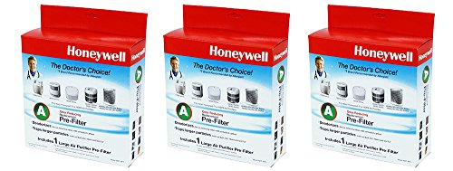 Honeywell HRF-AP1 Universal Carbon iFiiR Pre-filter, Filter A (3 Pack) by Honeywell