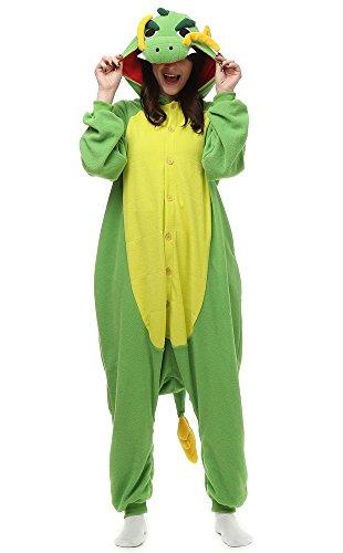 OLadydress Cute Giraffe Costumes Pyjamas, Teens Boys Girls Cosplay One-Piece Pajamas (M, GN)