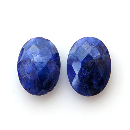 Surbhi Crafts Blue Sapphire Beryl Cabochon Pair 21ct Oval Shape Blue Beryl 17x13x6mm, K-3892 by Surbhi Crafts
