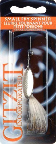 Gitzit Small Fry Spinner Fishing Equipment, 1/8 oz, White (Fry Gitzit Small Spinner)