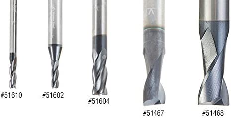 Amana Tool 51466 CNC Solid Carbide Spiral For Steel /& Stainless Steel with AlTiN Coating