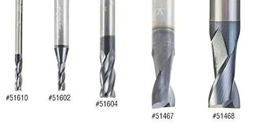 variant image of Amana Tool 51468 Solid Carbide Spiral for Steel & Stainless Steel with AlTiN Coating 2-Flute x 1/2 D x 3/4 CH x 1/2 SHK x 3 Inch Long Up-Cut Router Bit/End Mill