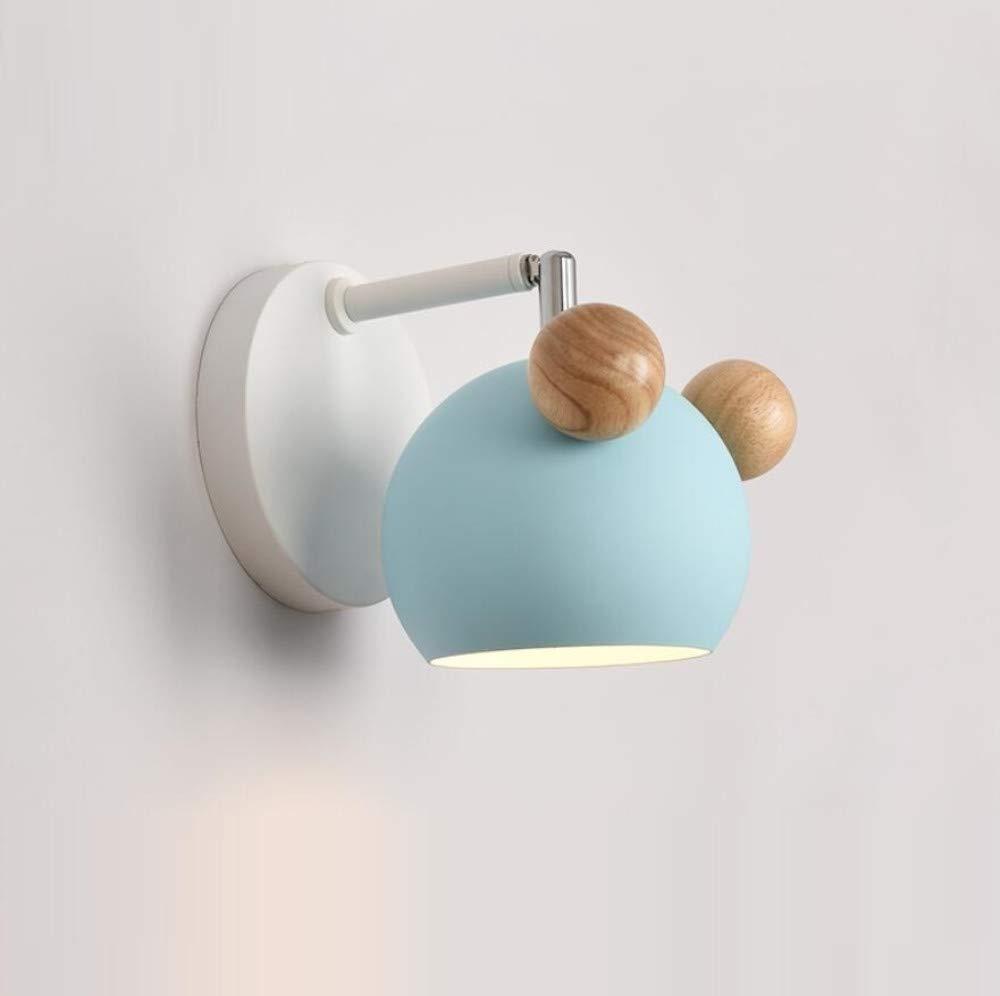 Wandleuchte Nordic Logs Blaue Wandleuchte Einfache Moderne Schlafzimmer Nachtwandlampe Kreative Led Wohnzimmer Gang Flur Lichter