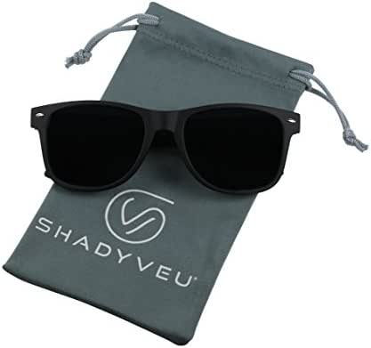 ShadyVEU - Exclusive Super Dark Lens Retro 80's Spring Hinge Migraine Round Sunglasses